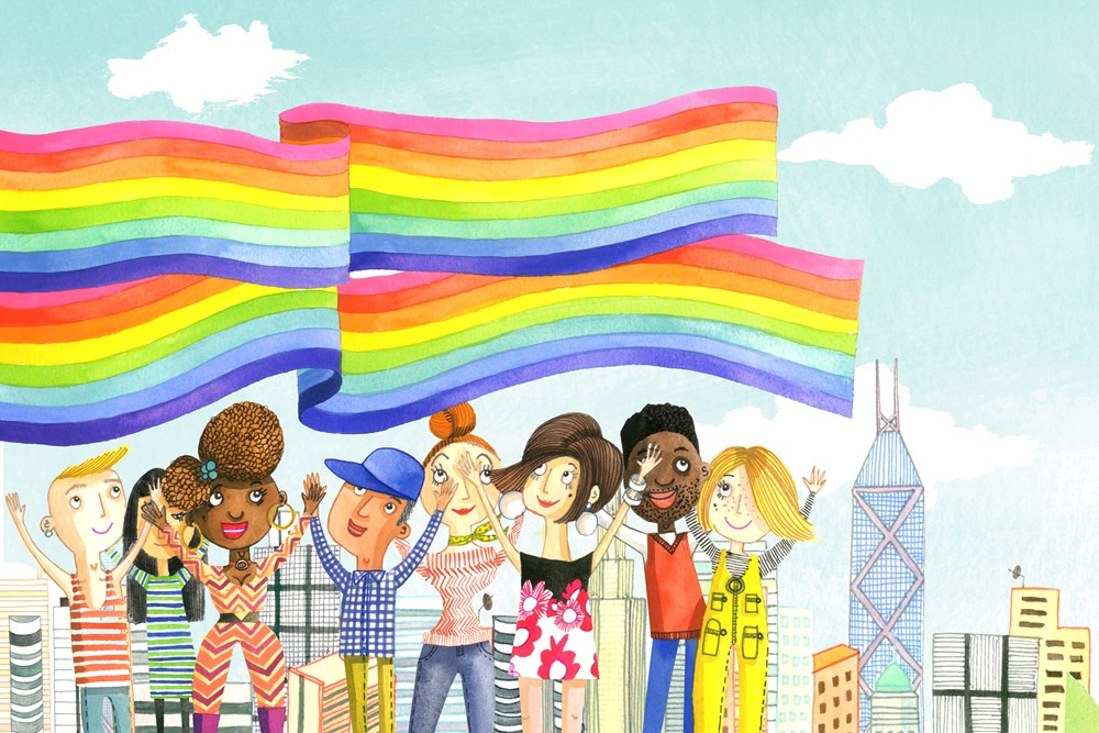 Image result for sewing the rainbow flag picture